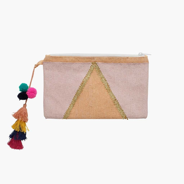 Langdon LTD  Ladies Clutch Bag Pink Jewel Rectangular