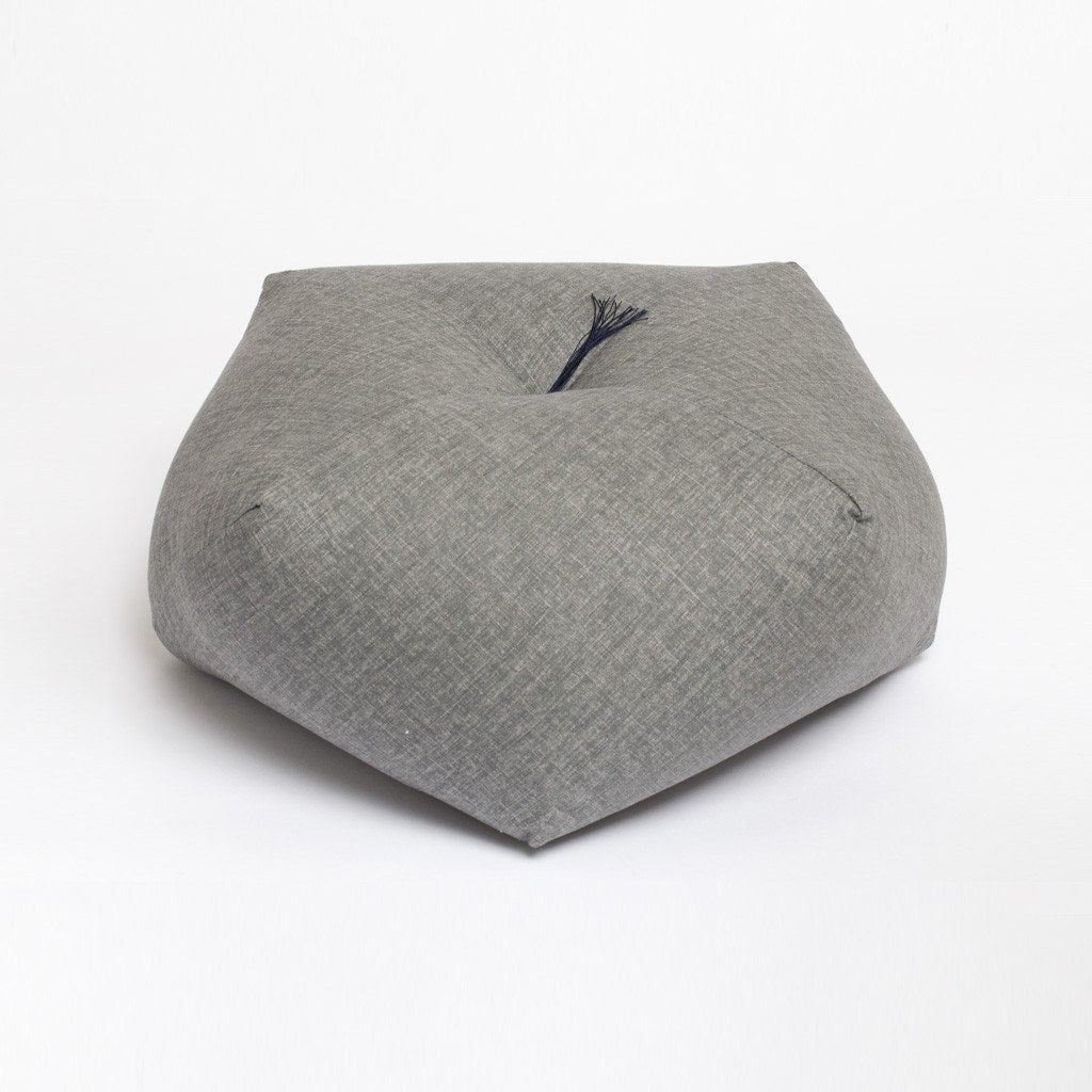 Japanese cushion dove grey cotton Takaokaya