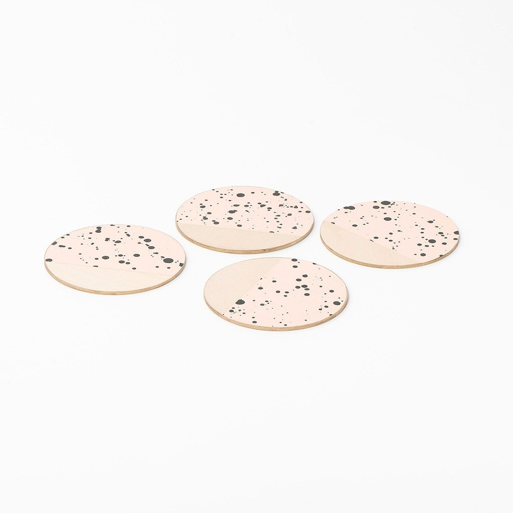 Drink Coasters set Blush Rain The Vintage Vogue