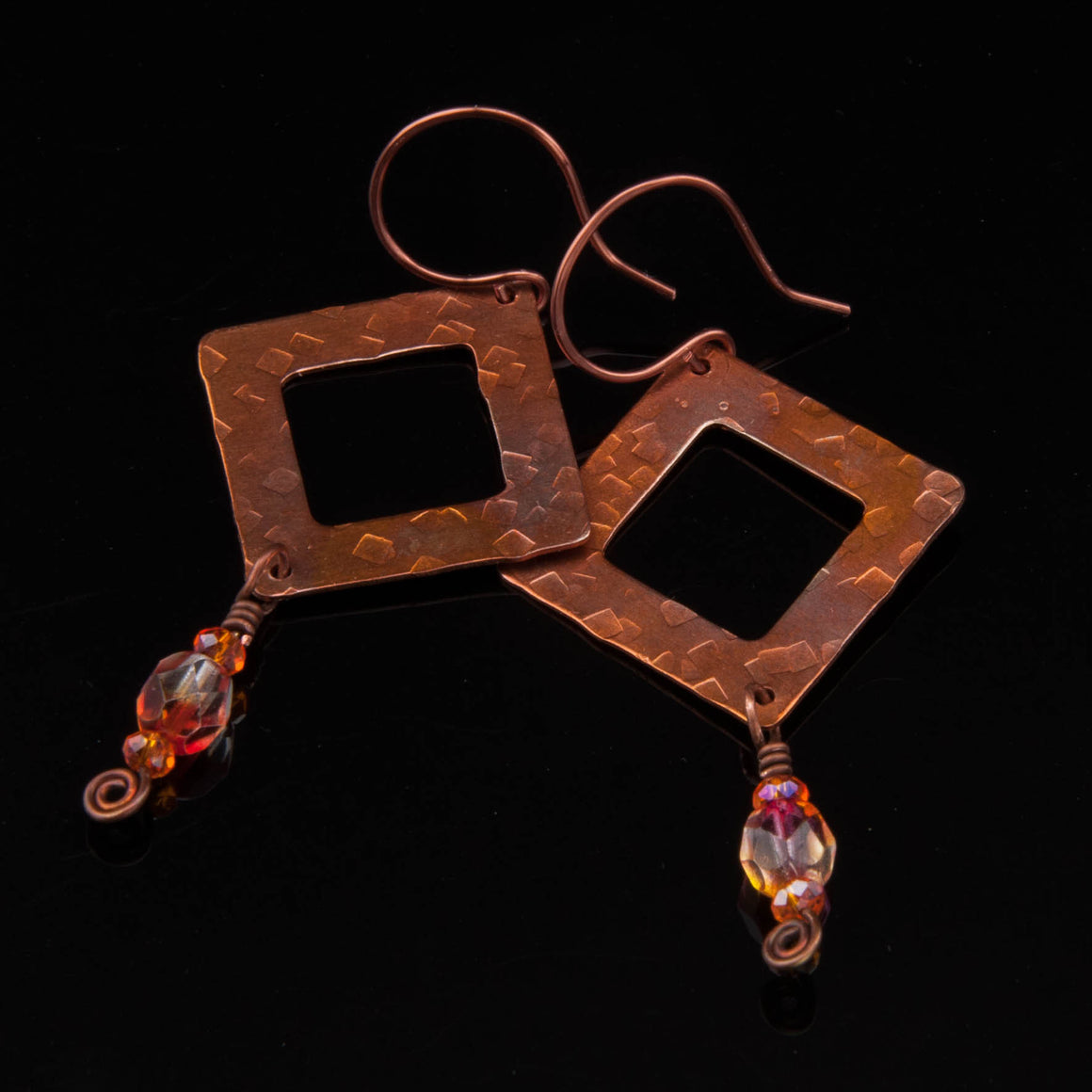 Copper Sunset Dangle Earrings