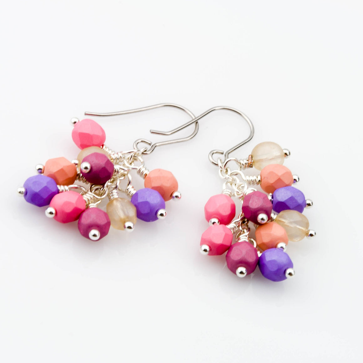 Hard Candy Cluster Earrings