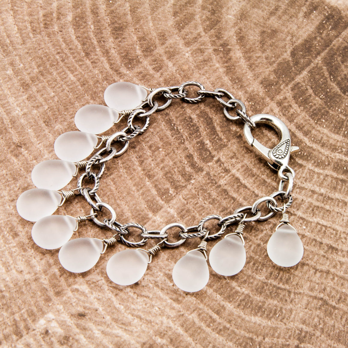 Morning Mist Teardrop Bracelet