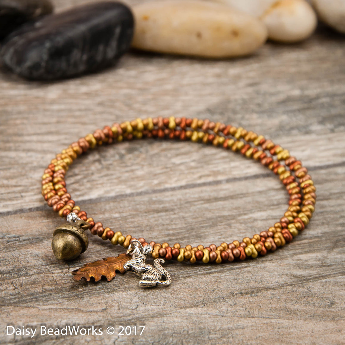 I'm So Squirrely coil bracelet (extra large)