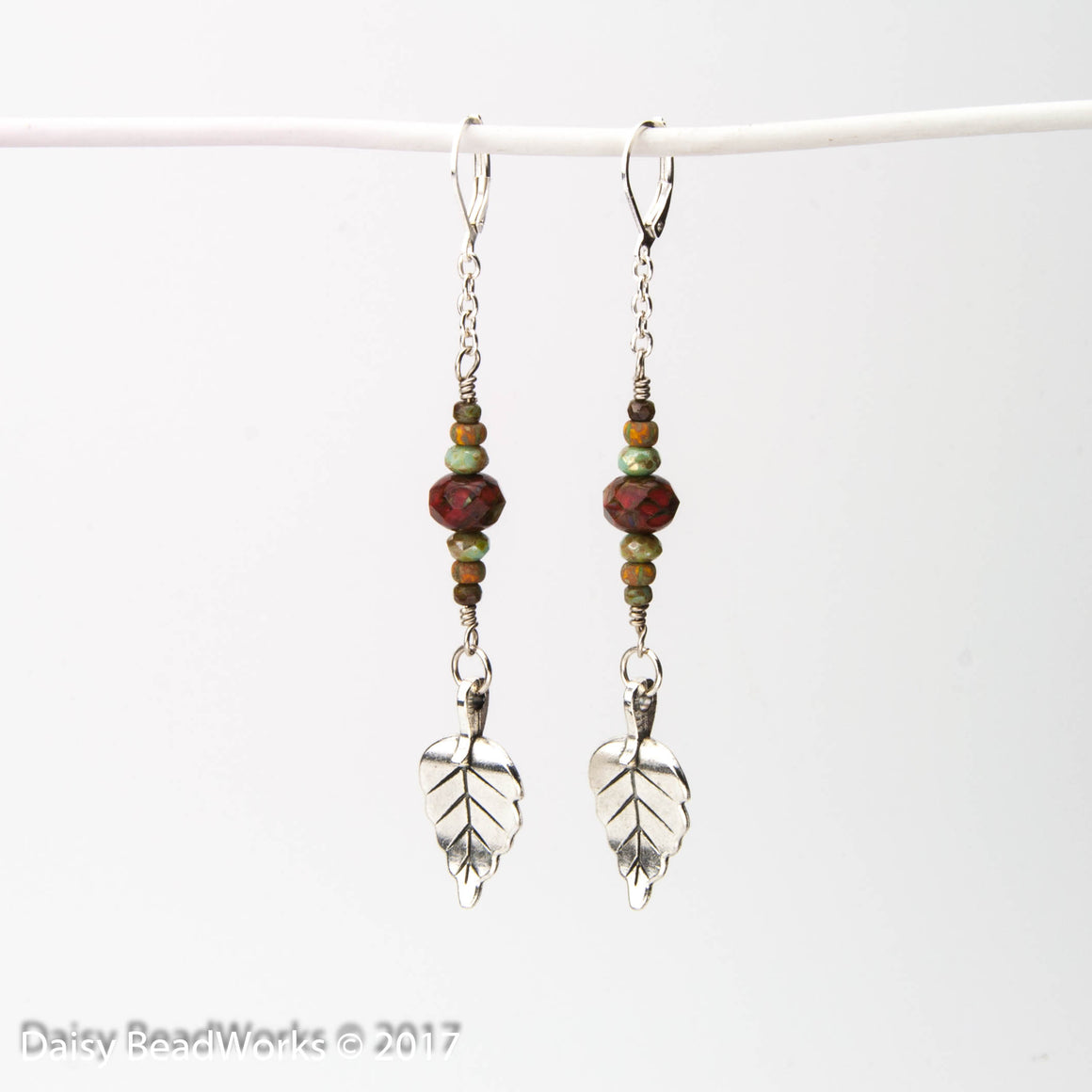 Falling Leaves Shoulder Duster Earrings