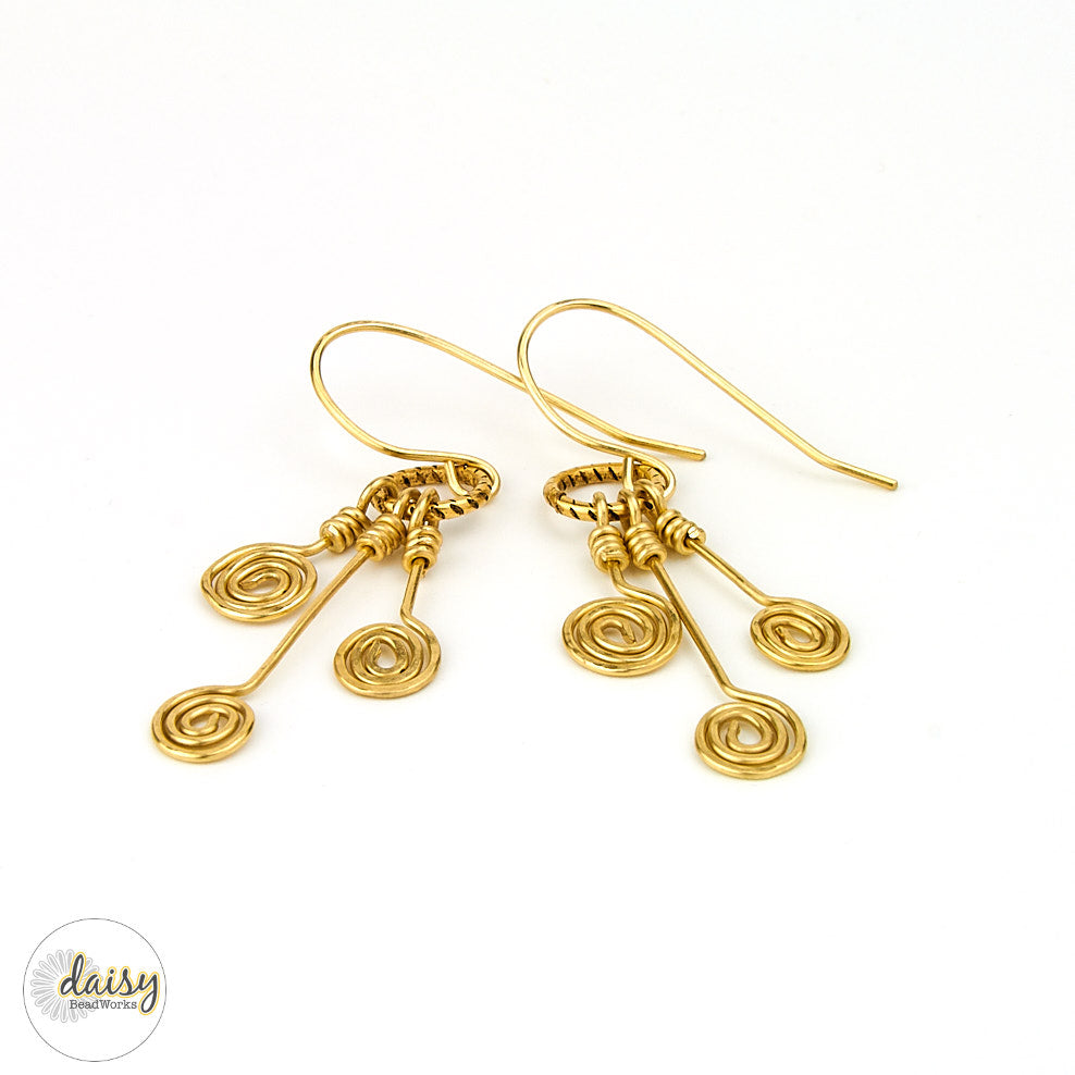 Golden Swirls Earrings