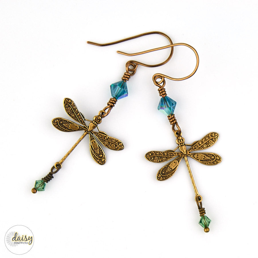 Dragonflies in Flight Earrings