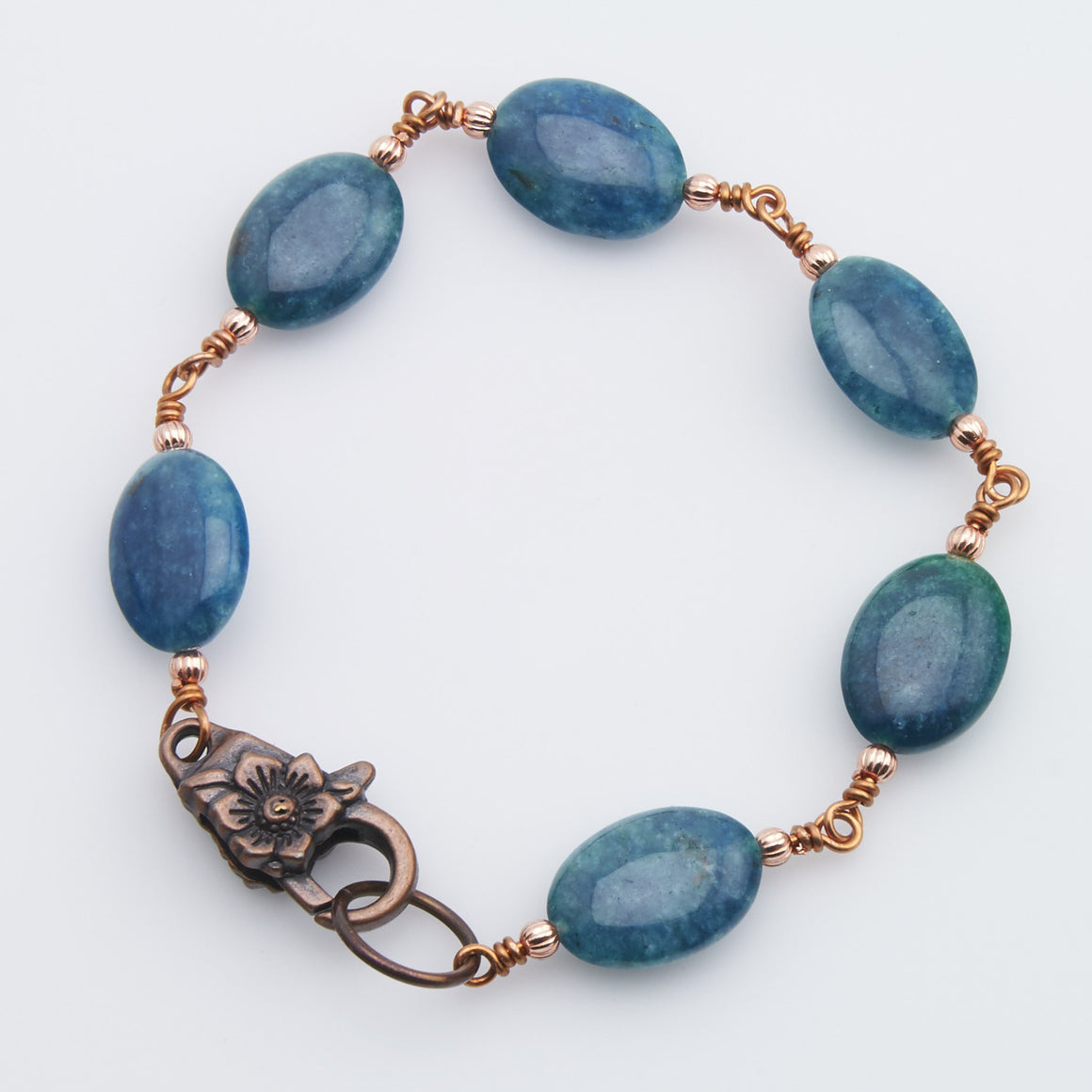 Apatite and Copper Bracelet
