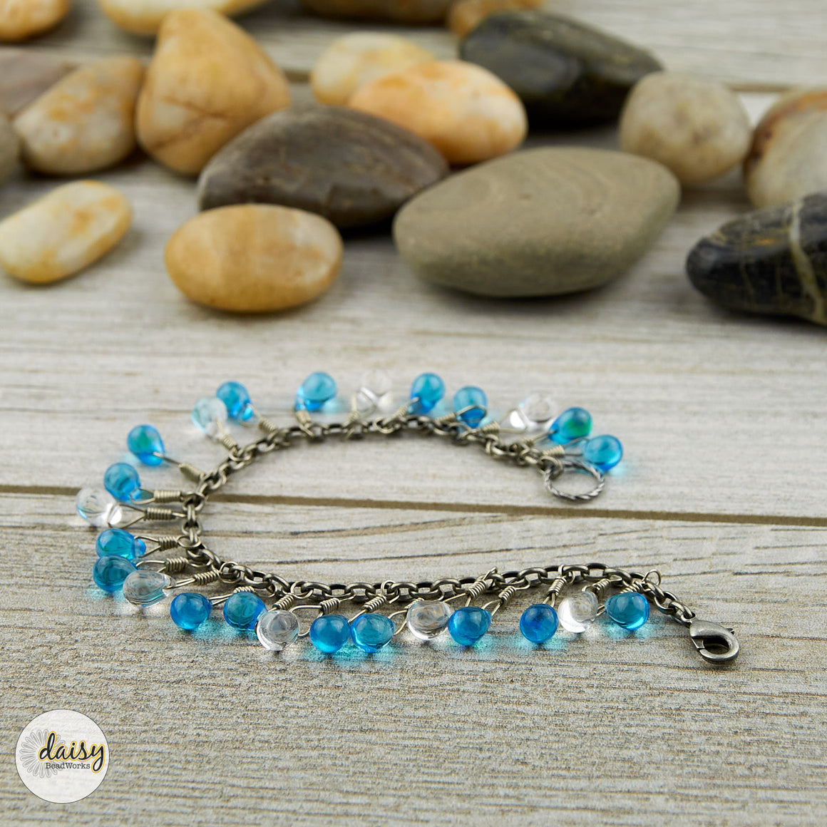 Blue Skies and Raindrops Bracelet