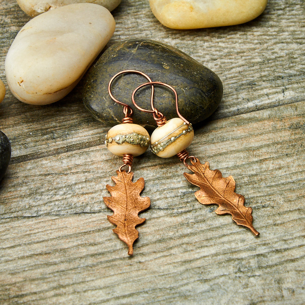 Vanilla Oak Earrings