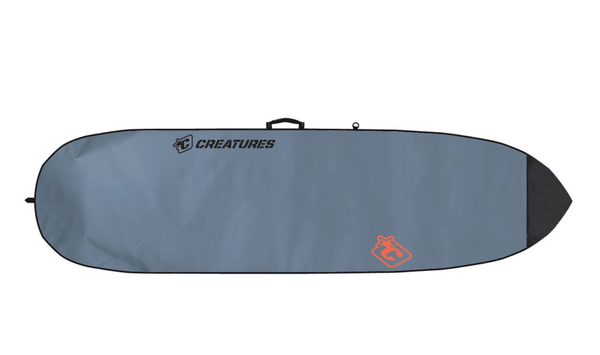 CREATURES SHORTBOARD LITE SURFBOARD BAG: CHARCOAL ORANGE