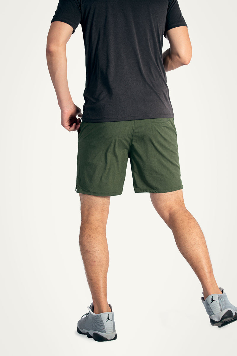 Olive Reflex 2-in-1 Shorts