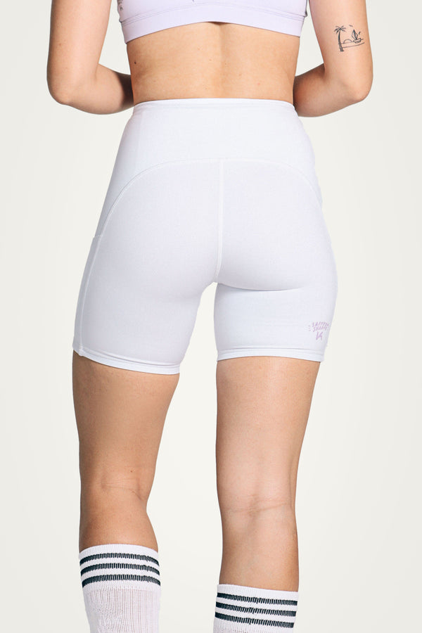 White Bike shorts