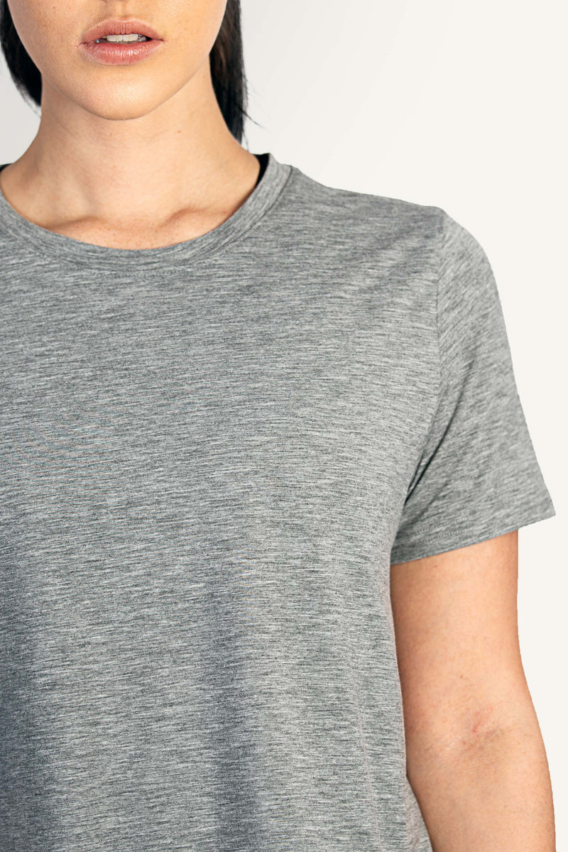 Grey Cross Back Tee