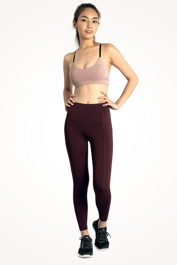 Maroon Flow Leggings