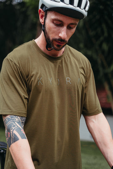 Interval Logo Tee in Olive