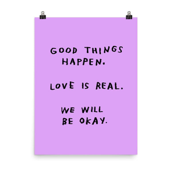 Good Things Happen Print 18x24 / Purple ADAMJK