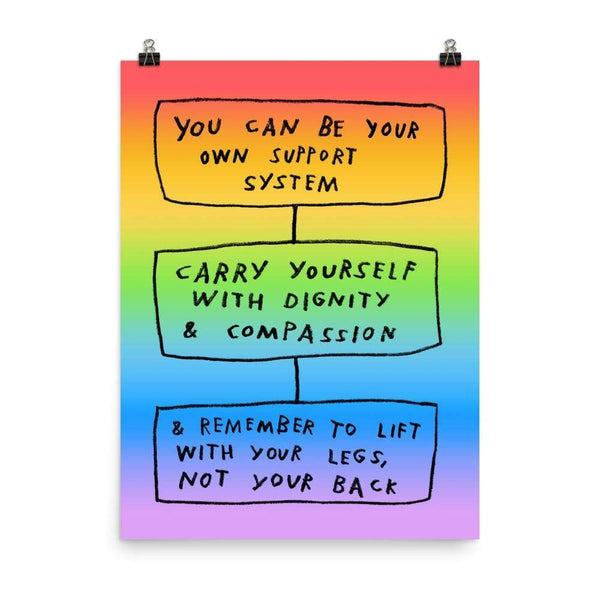 Carry Yourself Print 18×24 / Rainbow ADAMJK
