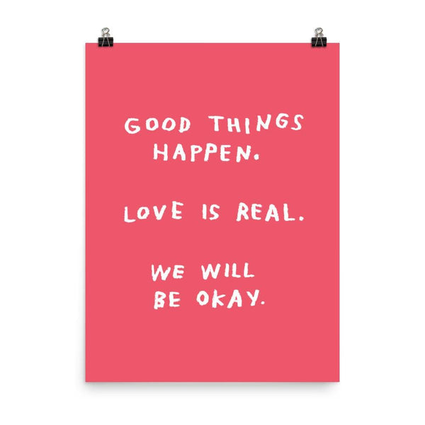 Good Things Happen Print 18x24 / Red ADAMJK