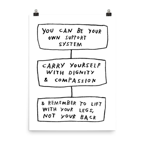 Carry Yourself Print 18×24 / White ADAMJK