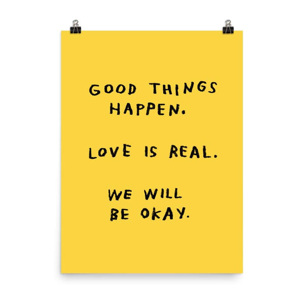 Good Things Happen Print 18x24 / Yellow ADAMJK