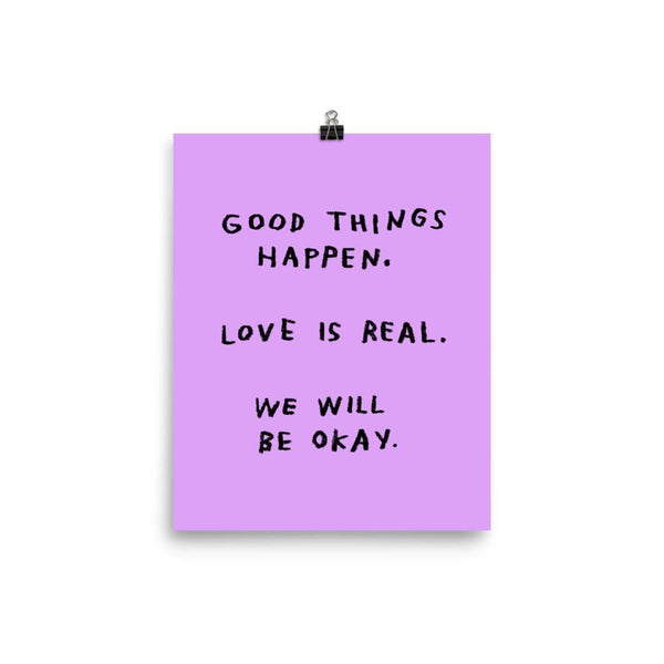 Good Things Happen Print 8x10 / Purple ADAMJK