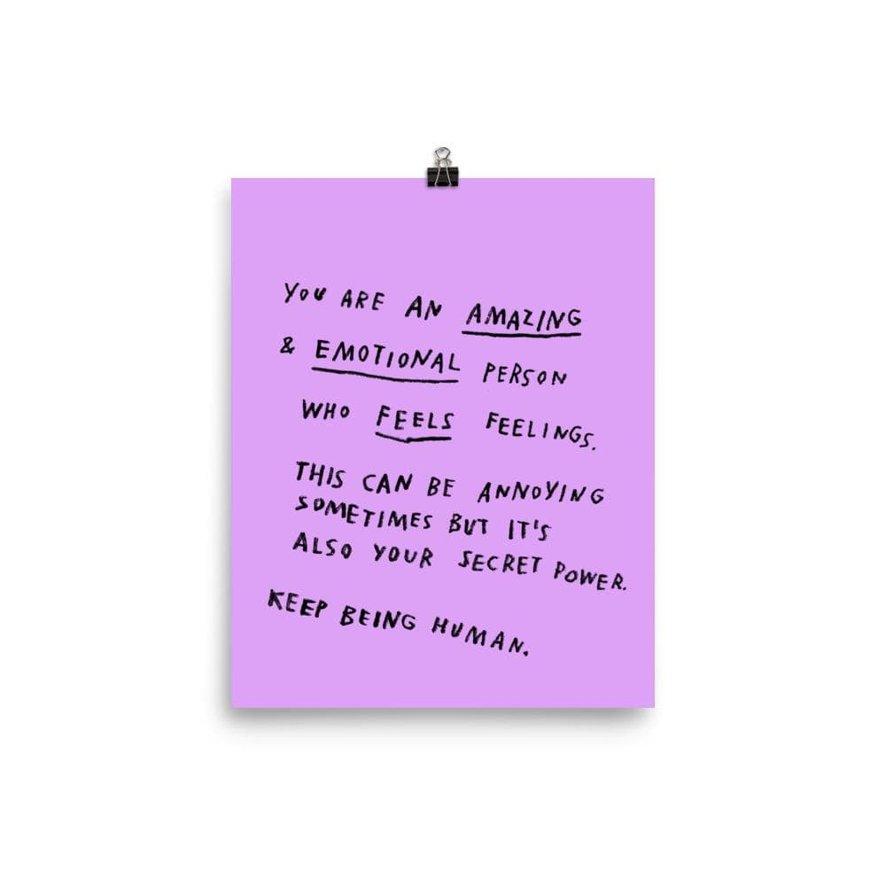Keep Being Human Print 8x10 / Purple ADAMJK