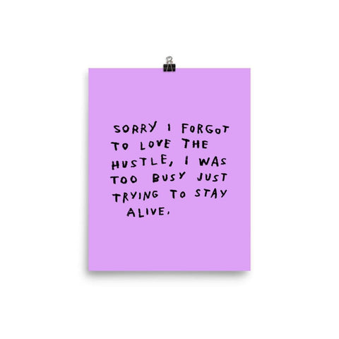 The Hustle Print 8x10 / Purple ADAMJK
