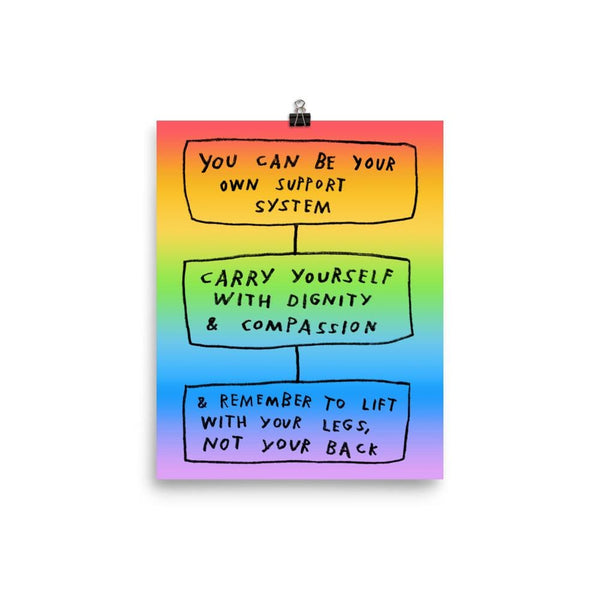 Carry Yourself Print 8×10 / Rainbow ADAMJK