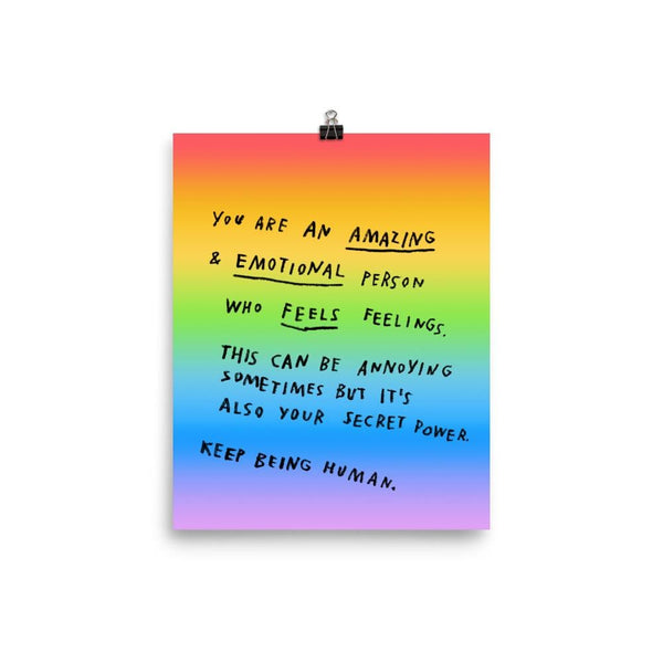 Keep Being Human Print 8x10 / Rainbow ADAMJK