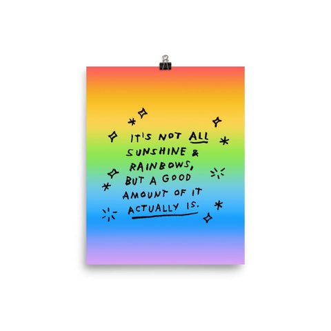 Sunshine & Rainbows Print 8×10 ADAMJK