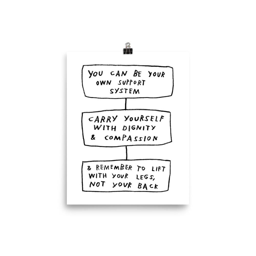 Carry Yourself Print 8×10 / White ADAMJK