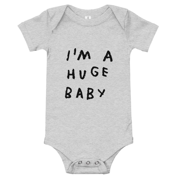 Huge Baby Onesie Athletic Heather / 3-6m ADAMJK