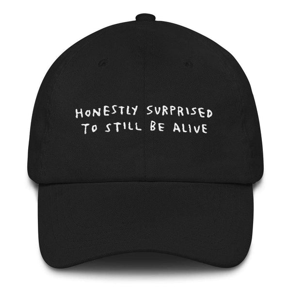 Honestly Surprised Hat Black ADAMJK
