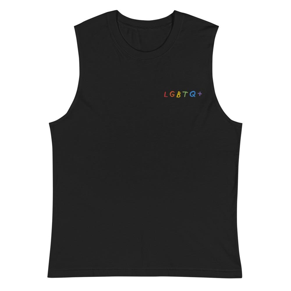 LGBTQ+ Embroidered Muscle Shirt Black / S ADAMJK