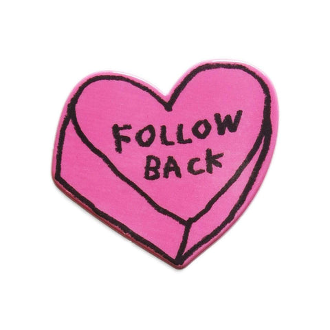 Follow Back XL Puffy Sticker ADAMJK