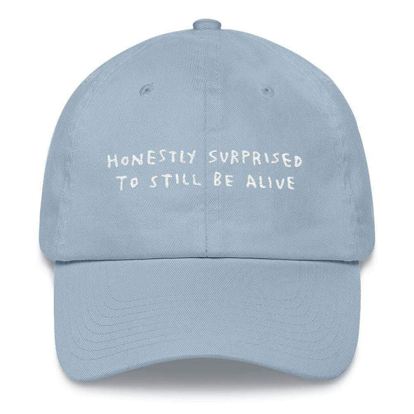 Honestly Surprised Hat Light Blue ADAMJK