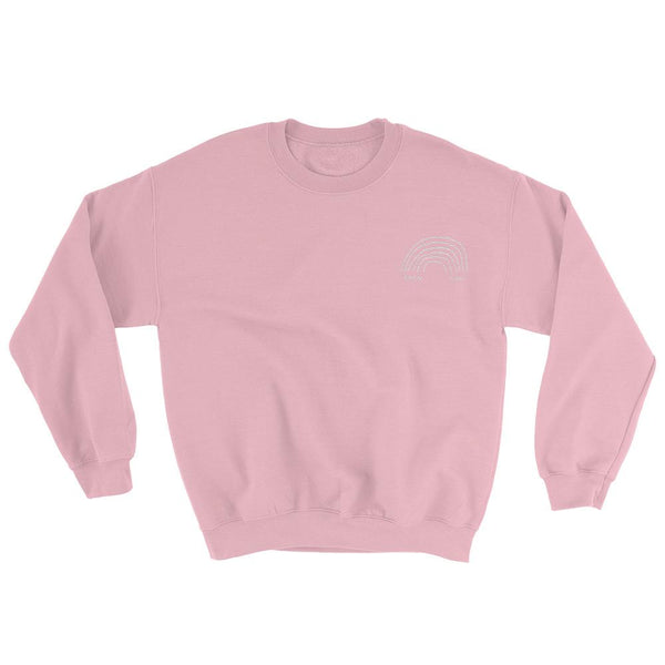 Then & Now Embroidered Crewneck Light Pink / S ADAMJK