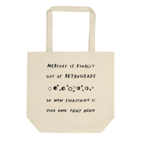 Mercury Retrograde Tote Bag ADAMJK
