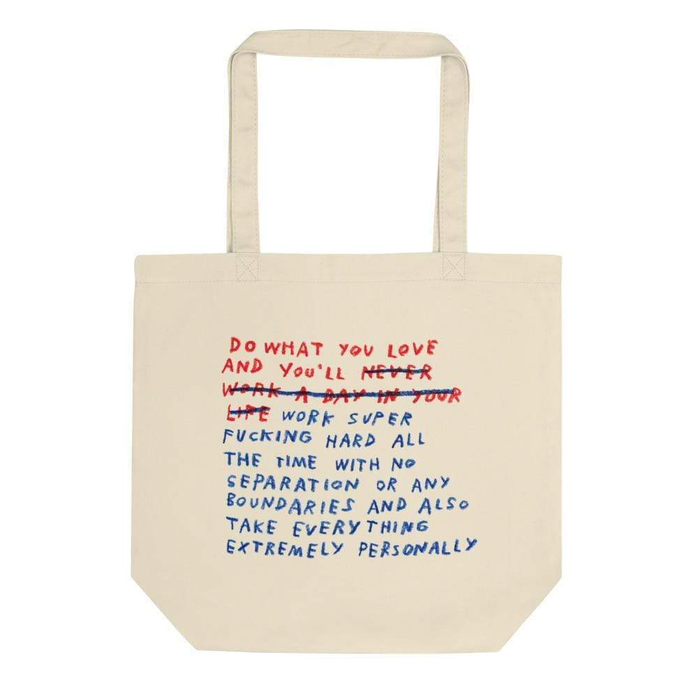 Work/Life Balance Tote Original Text ADAMJK