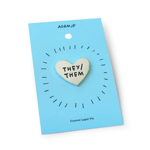 Pronoun Pins (They/He/She) They ADAMJK