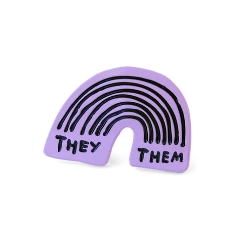 They/Them Rainbow Pin ADAMJK