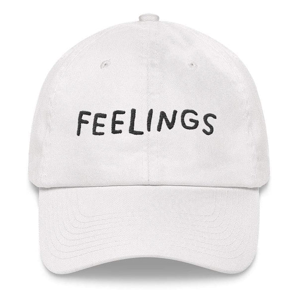 FEELINGS Hat White ADAMJK