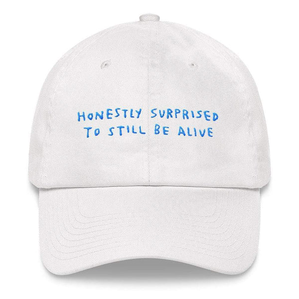 Honestly Surprised Hat White ADAMJK