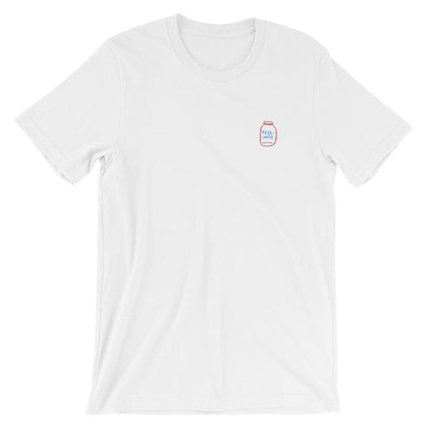 FEELINGS Embroidered T-Shirt White / XS ADAMJK