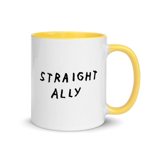 Straight Ally Mug Yellow ADAMJK