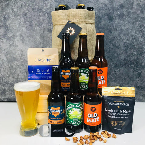 6 Beer Brewquets Gift with Snacks