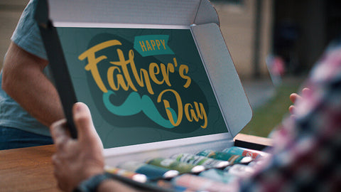 Father's Day Beer Gift Box Open