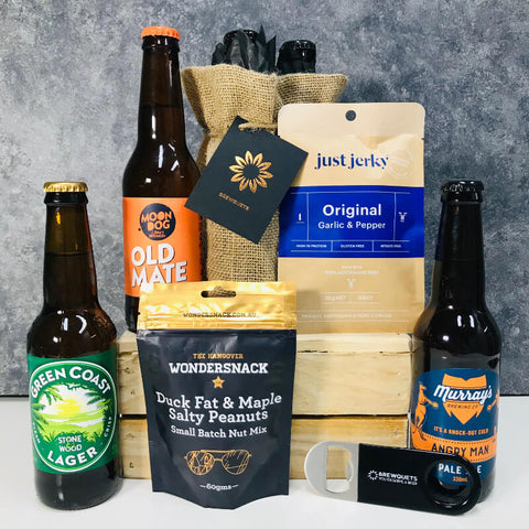 3 Beer Brewquet Gift with Snacks