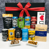 Valentines Day Beer Gift Hamper with Snacks Jerky Nuts and Chocolate