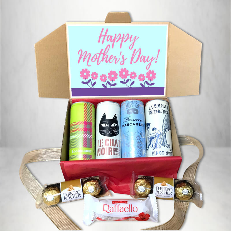 Mother's Day Hampers | Mother's Day Wine & Chocolate Gift Box | Beanstalk Mums